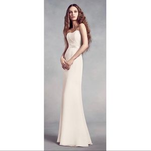 Ivory David's Bridal Chiffon Gown
